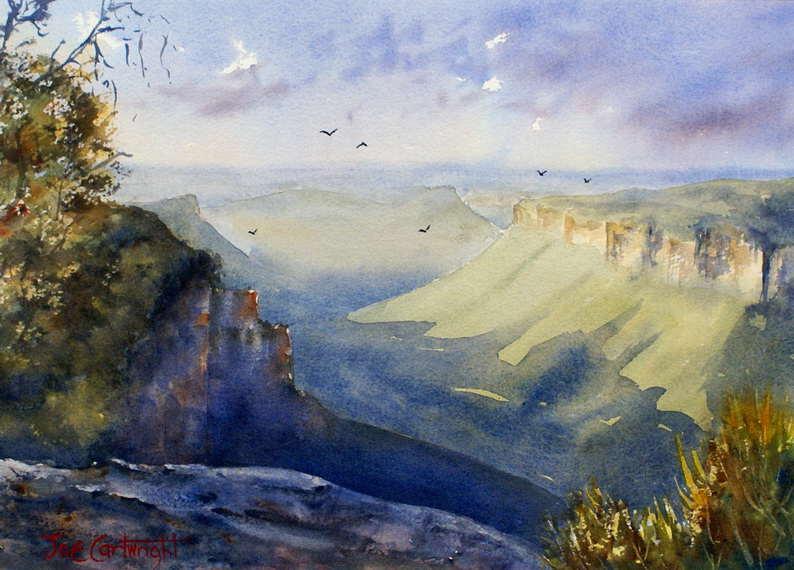 Watercolor Paintings Landscape - 57.6KB