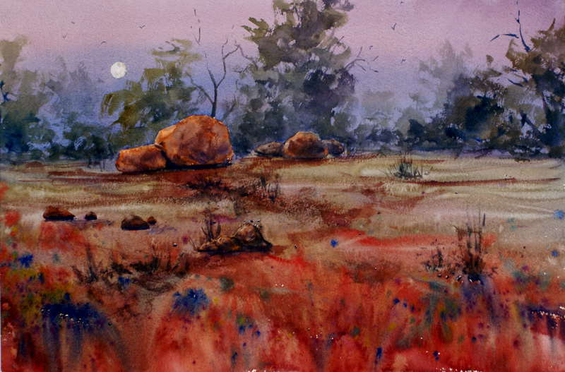 Watercolor paintings landscape gallery for Australian mural artists