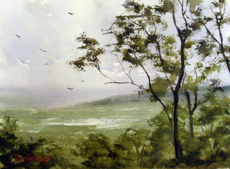 Free watercolor painting landscape - 66.1KB