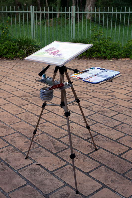 watercolor travel easel 3