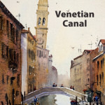 Watercolor painting video – Venetian Canal
