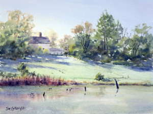 Watercolor Painting of Pughs Lagoon by Joe Cartwright