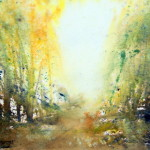 "Watercolor painting for sale titled ""Light and Path"" AUD$300"