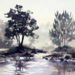 "Watercolor painting for sale. Grose River 14.5"" x 10.5"" (37cm x 27cm) AUD$300"